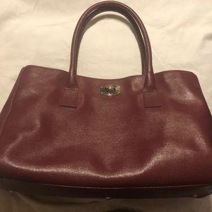 furla wine colored handbag